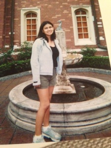 Me at sixteen on a family vacation in Disney. It was summer in Orlando and I never took off that sweater.